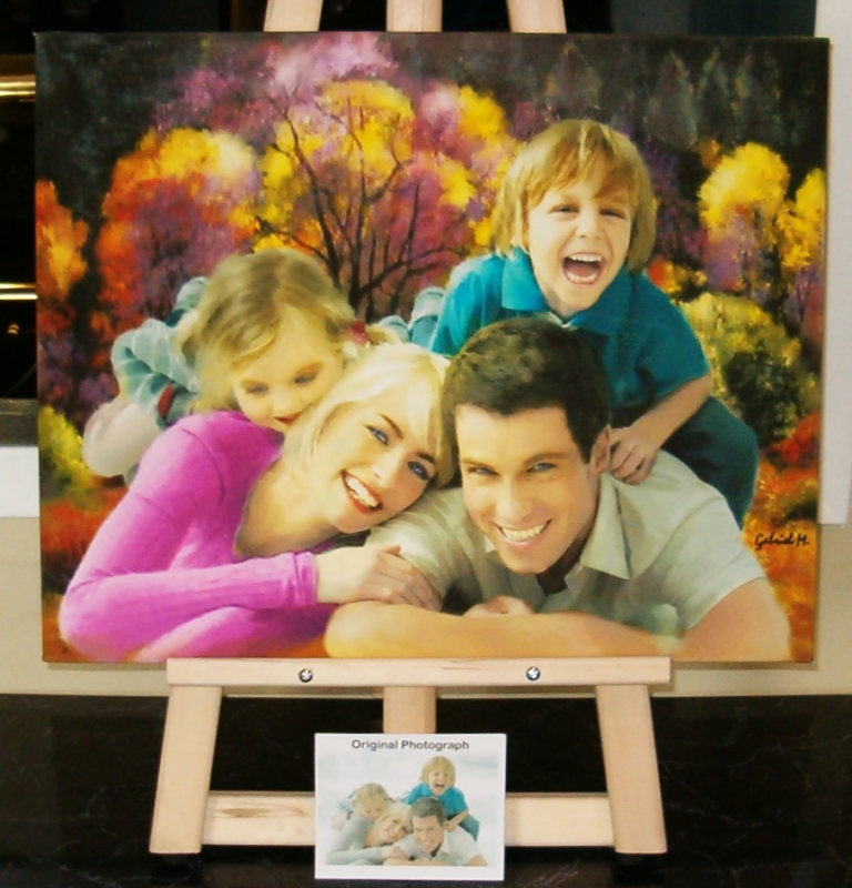 Beautiful Family Portraits On Canvas From Your Best Pictures We Can Transform Ordinary