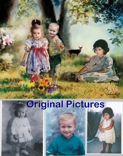 ORIGINAL IDEA - A Portrait on Canvas, the perfect gift for Christmas, anniversaries and birthdays that last... a lifetime.  Unique,  Unusual, Personalized Ideas